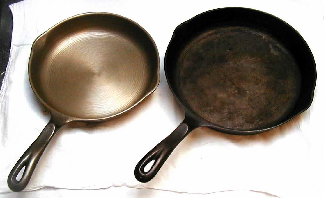 clean and dirty skillet